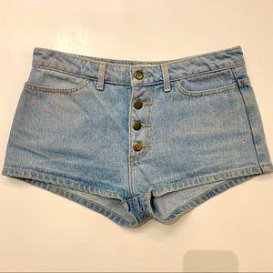 American Apparel jean short shorts W30 denim USA